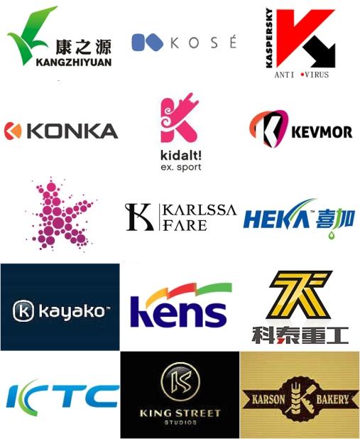 英文k的标志设计欣赏 k字母开头标志设计 k开头的英文